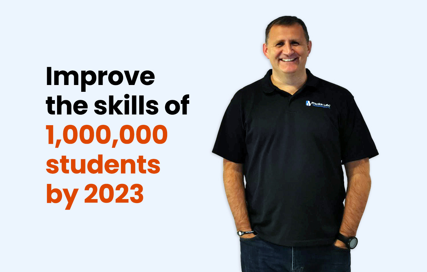 Improve the skills of 1,000,000 students by 2023